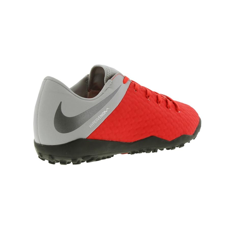8378f14a43517 Chuteira Society Nike Hypervenom Phantom X 3 Academy TF - Adulto
