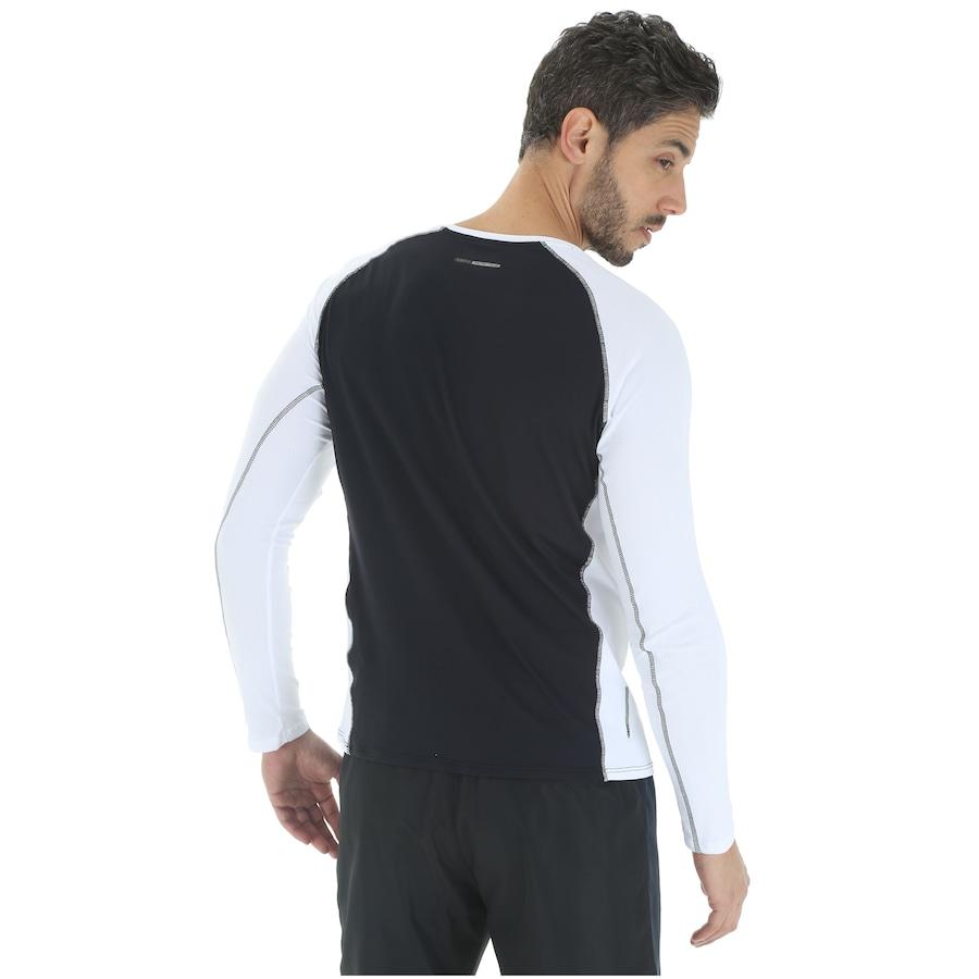 6d6b0ae854eef Camiseta Manga Longa com Proteção Solar UV Mizuno Run Pro - Masculina