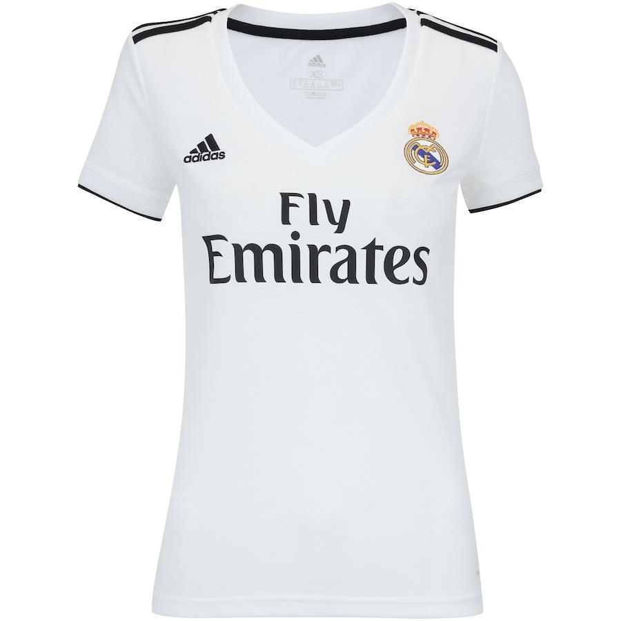 Camisa Real Madrid I 18 19 adidas - Feminina 55481a3235896