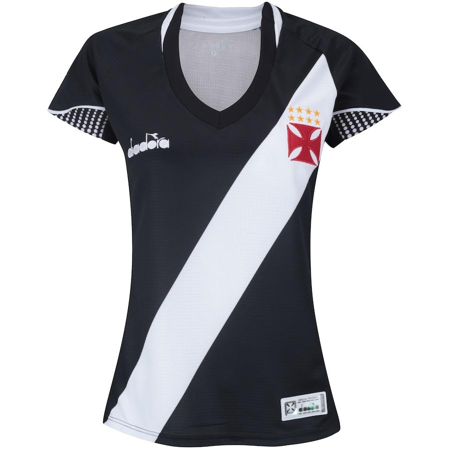 24a8f80346d48 Camisa do Vasco da Gama I 2018 Diadora - Feminina