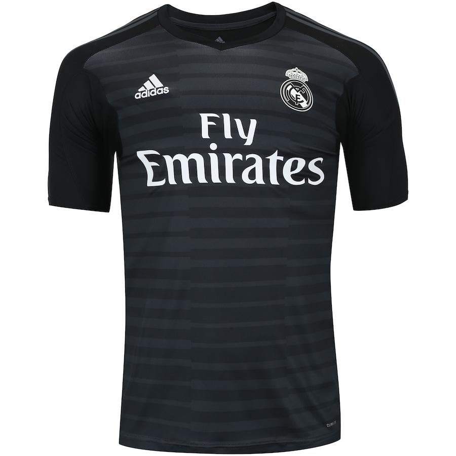 Camisa de Goleiro Real Madrid I 18 19 adidas - Masculina d43aa9d376631