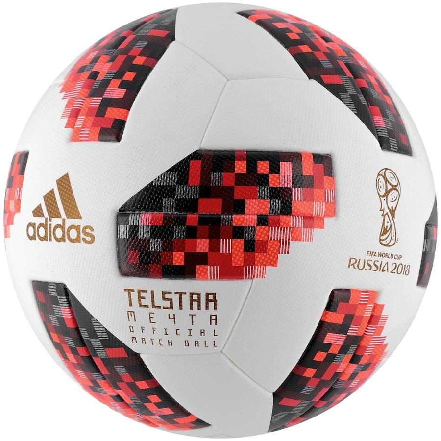 65d6b788257bf Bola de Futebol de Campo Telstar Oficial Finais da Copa do Mundo FIFA 2018  adidas OMB