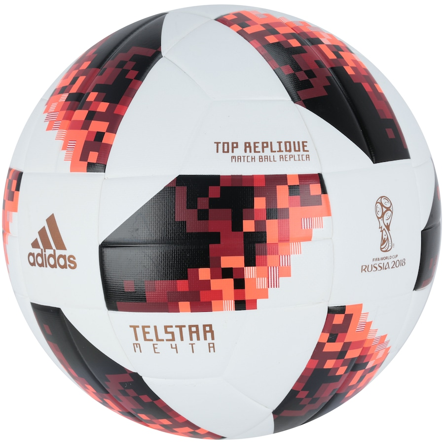 8c48e7e07 Bola de Futebol de Campo Telstar Oficial Finais da Copa do Mundo FIFA 2018  adidas Top Replique