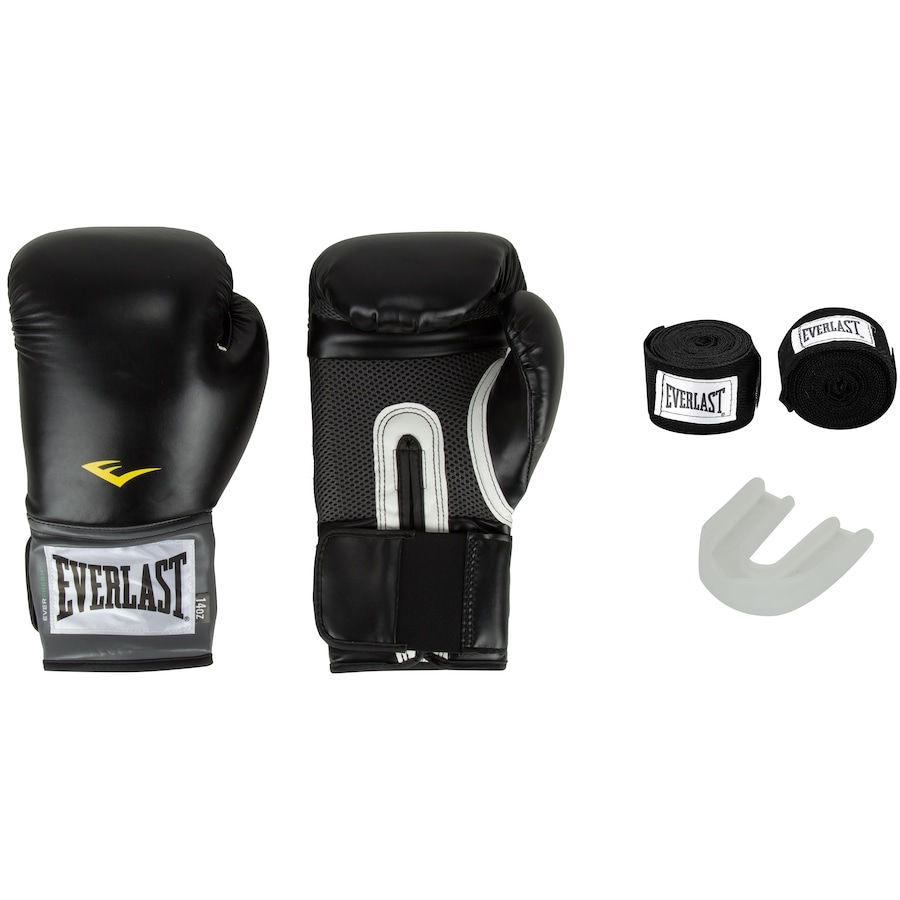 3c345e8af Kit de Boxe Everlast  Bandagem + Protetor Bucal + Luvas de Boxe Training -  14 OZ - Adulto