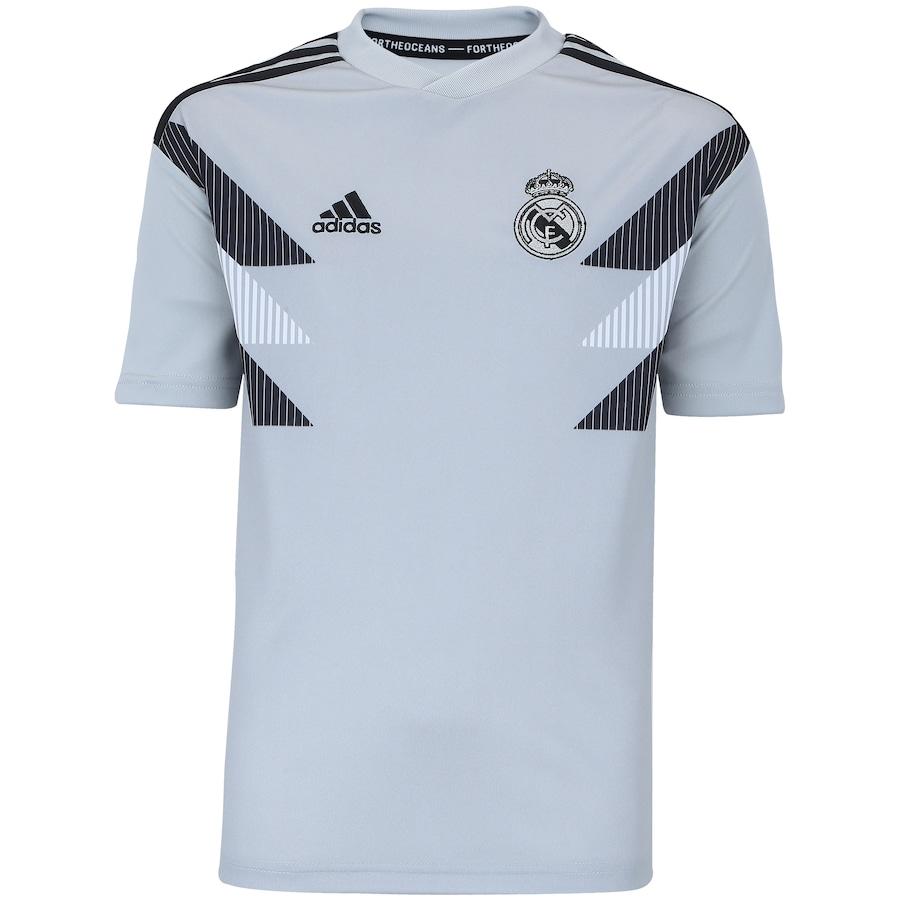Camisa Pré-Jogo Real Madrid 18 19 adidas - Infantil 300db38f7591d