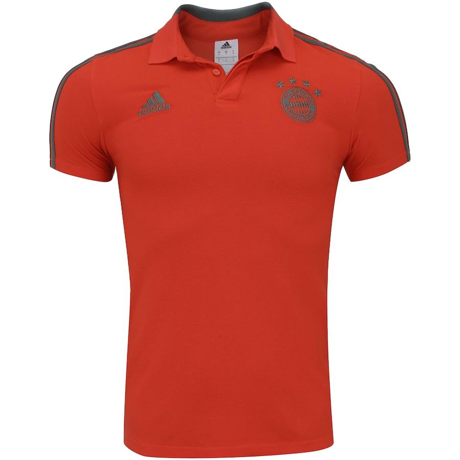 Camisa Polo Bayern de Munique 18 19 adidas - Masculina b1fed3067d4bc