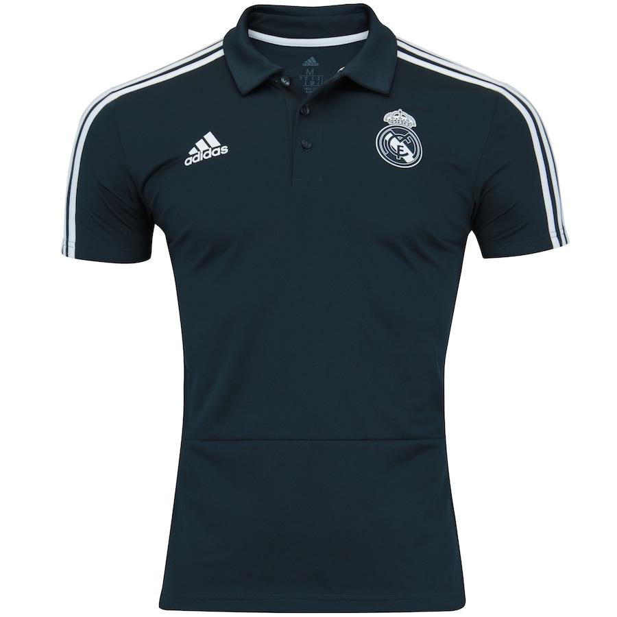 Camisa Polo Real Madrid 18 19 adidas - Masculina 0edd05e1ec21c