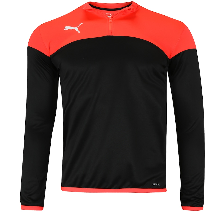 38fb32fedc2 Camisa Manga Longa Puma Play 1 4 Zip - Masculina