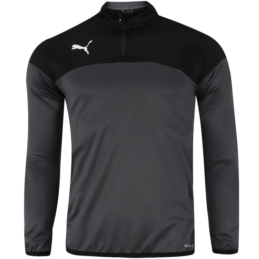 c1d4b9f1aa5 Camisa Manga Longa Puma Play 1 4 Zip - Masculina. Imagem ampliada ...
