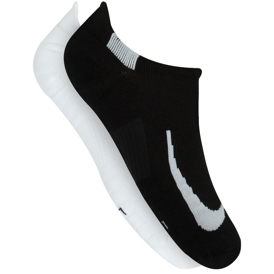 Foto 1 - Kit de Meias Sapatilha Nike Multiplier No Show com 2 Pares - Adulto