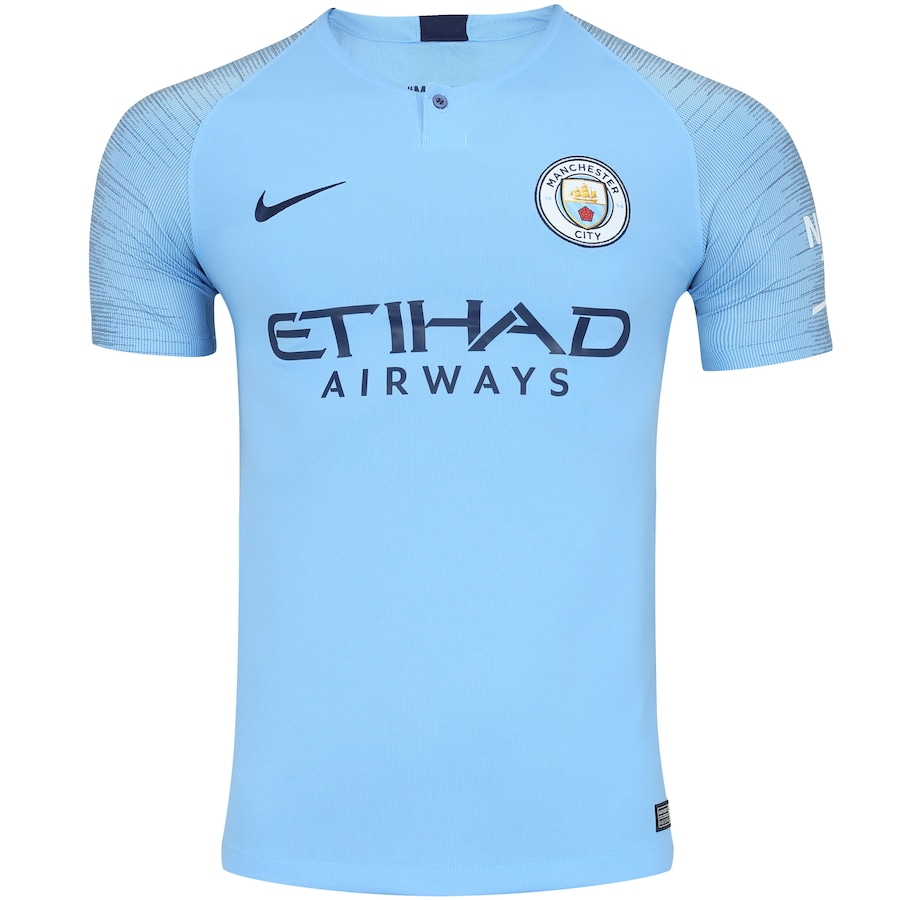 3013ee4646124 Camisa Manchester City I 18 19 Nike - Masculina