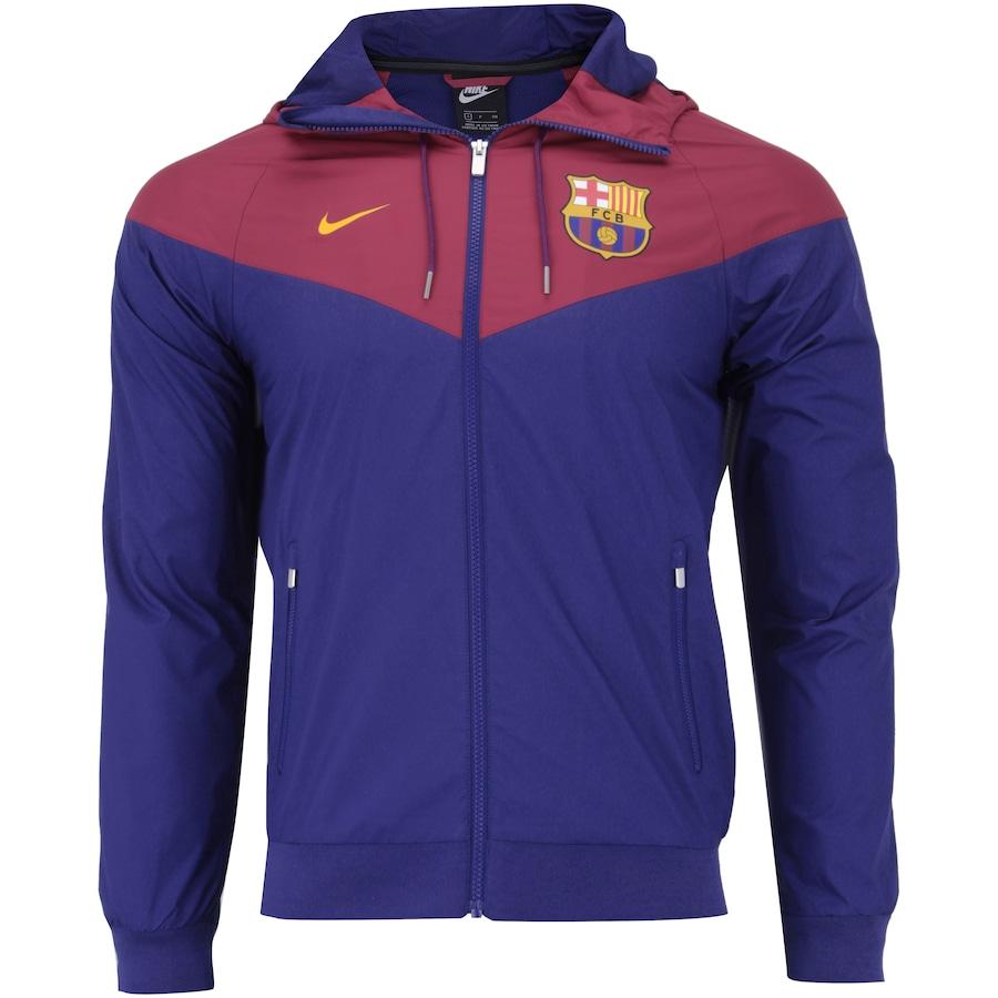 de8774b2609c5 Jaqueta Barcelona Windrunner 18 19 com Capuz Nike - Masculina