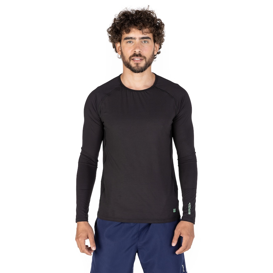 66453b363a Camiseta Manga Longa com Proteção Solar UV 50+ Oxer New - Masculina