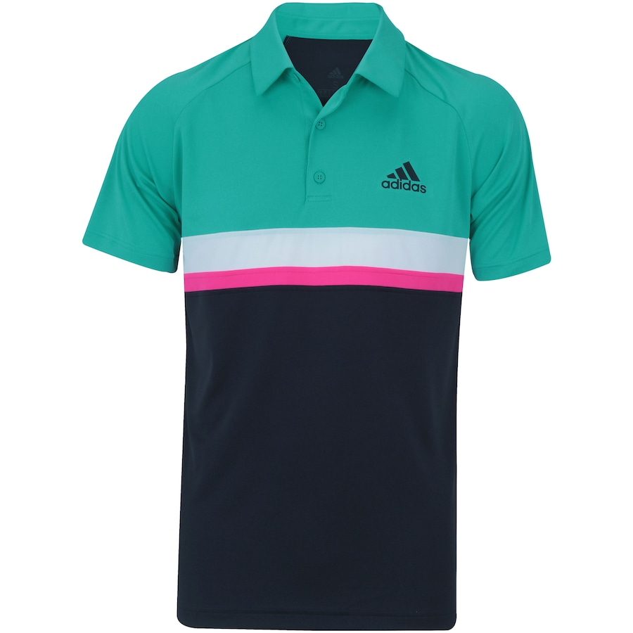 Camisa Polo adidas Club Color Block - Masculina 7c6f573a47302