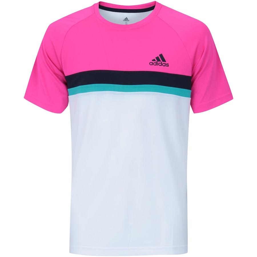 efcf2a5f05 Camiseta com Proteção Solar UV adidas Club Color Block Tee - Masculina