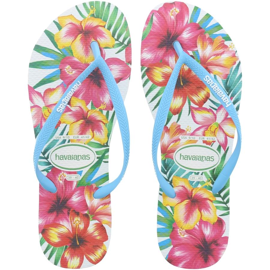 b2147ffd89 Chinelo Havaianas Slim Hibisco FC - Feminino