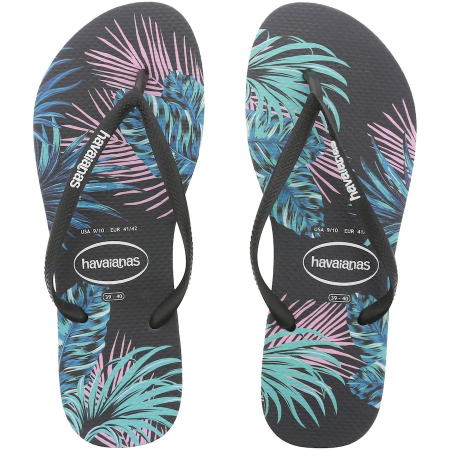 64d188289c Chinelo Havaianas Slim Tropical Floral - Feminino