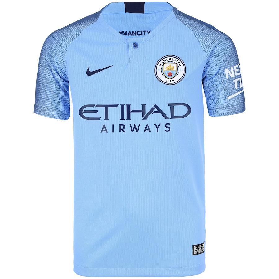 camisa nike manchester city azul 2017 2018 gabriel jesus 33. Carregando zoom . 0be94d7607e93