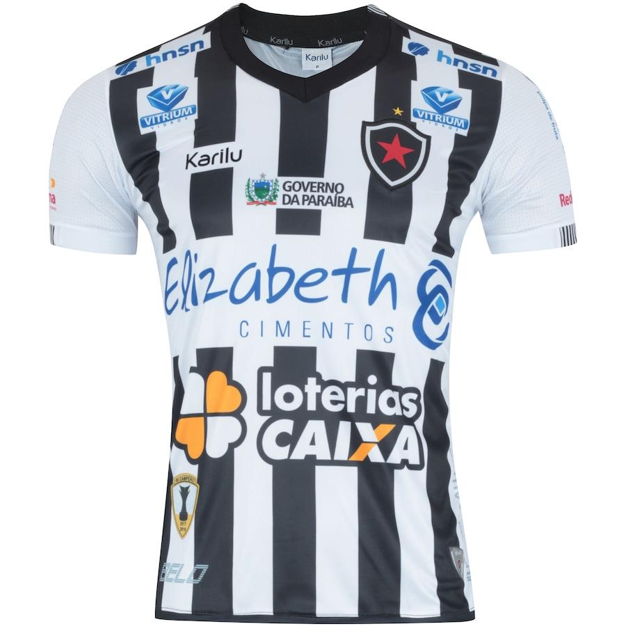 Camisa do Botafogo-PB I 2018 nº 10 Karilu - Masculina 42f614034c491