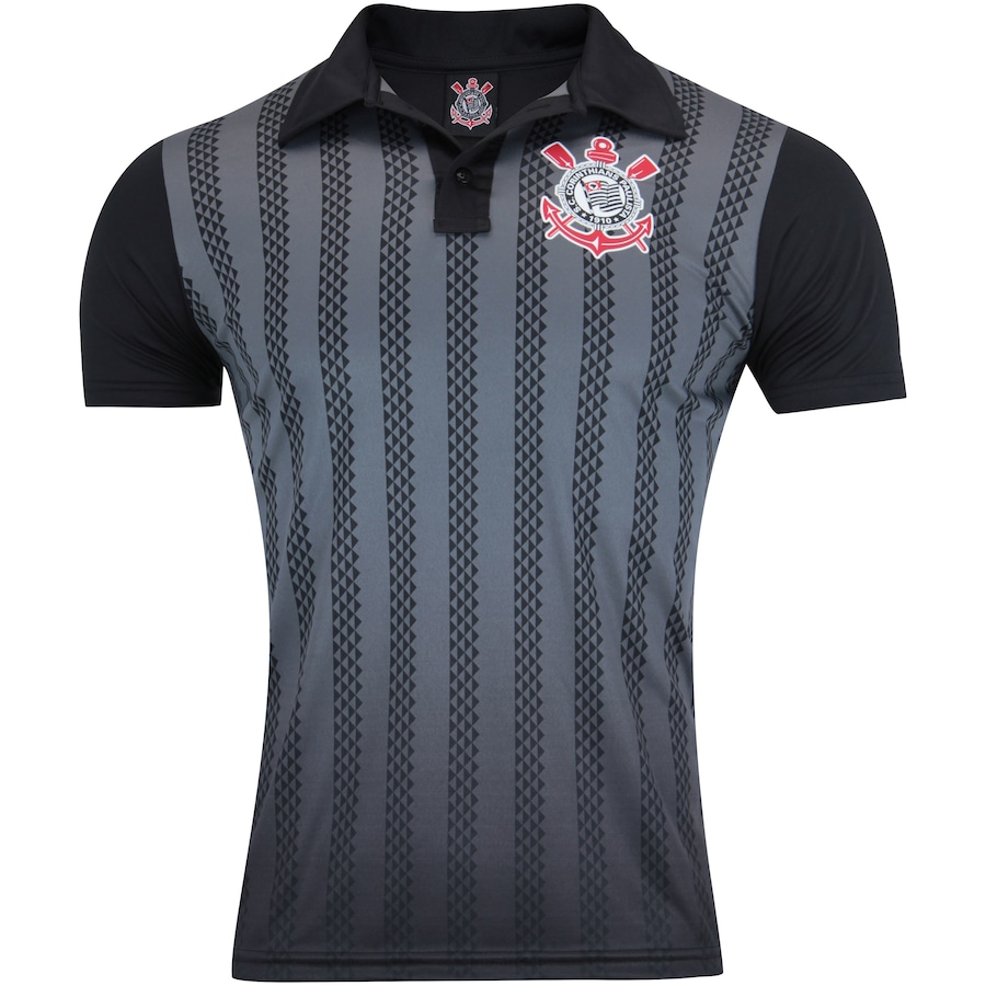 Camisa Polo do Corinthians Dark Side - Masculina b3dcd0372803a
