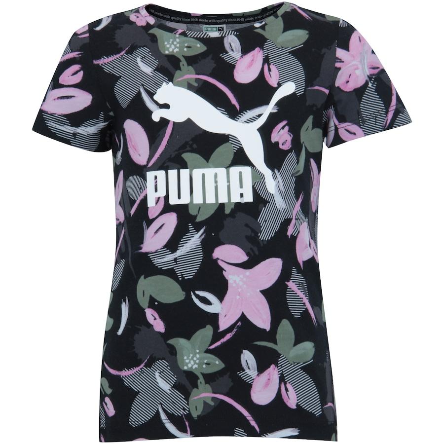 84da50ce654 Camiseta Puma Classics AOP Tee Feminina- Infantil