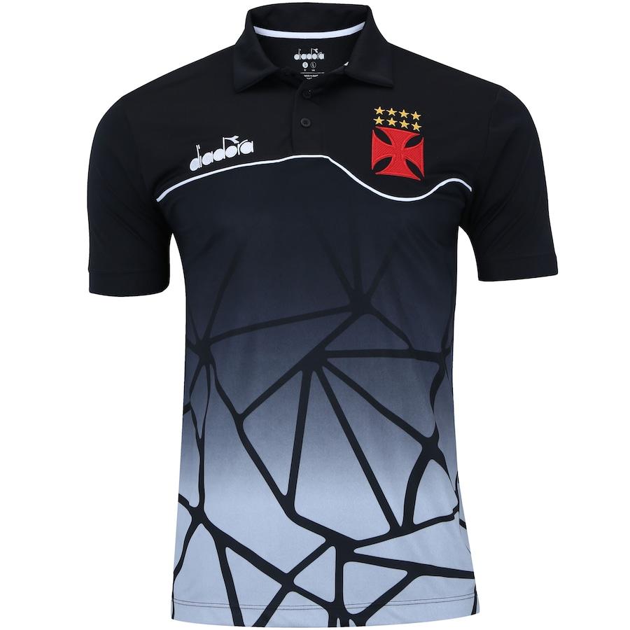 Camisa Polo do Vasco da Gama Viagem Atleta 2018 Diadora - Masculina d17da8556d8cb