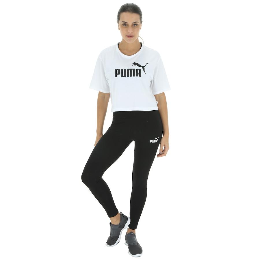 Blusa Cropped Puma Elevated Essentials Tee - Feminina c89400d56d6ec