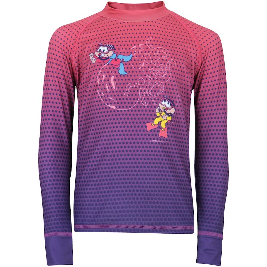 12c1dab9df Camiseta Manga Longa com Proteção Solar UV Oxer Turma Da Mônica Feminina -  Infantil