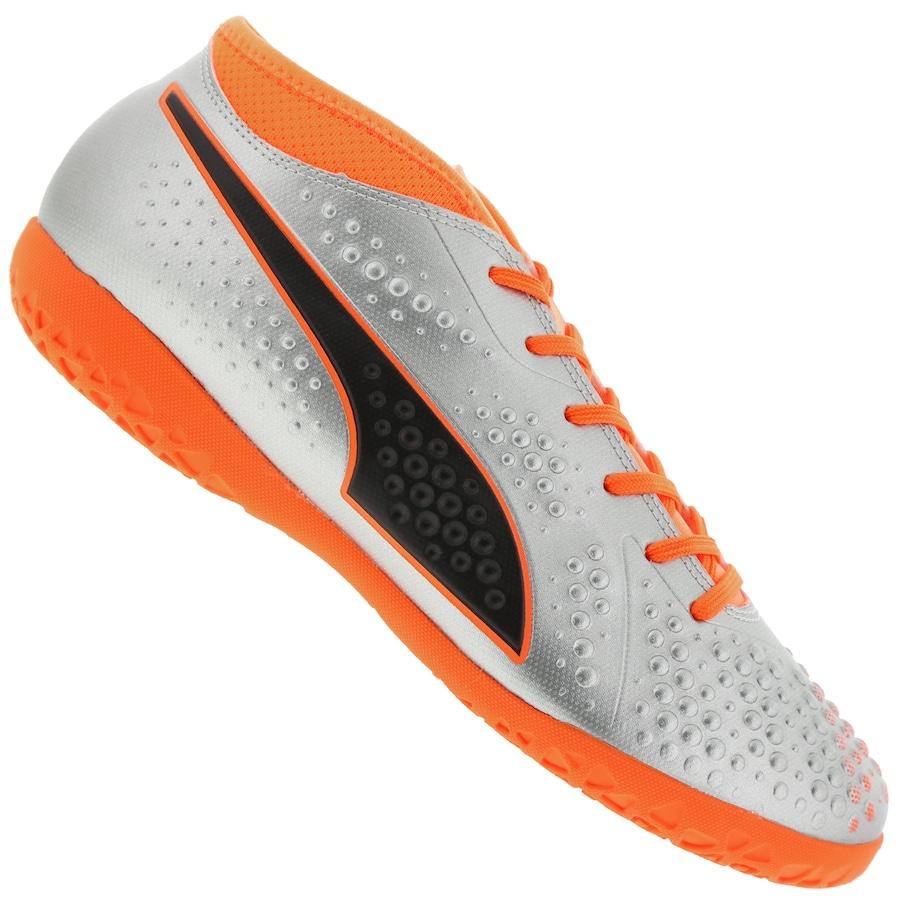 fb5debbc71 Chuteira Futsal Puma One 4 Syn IC - Adulto