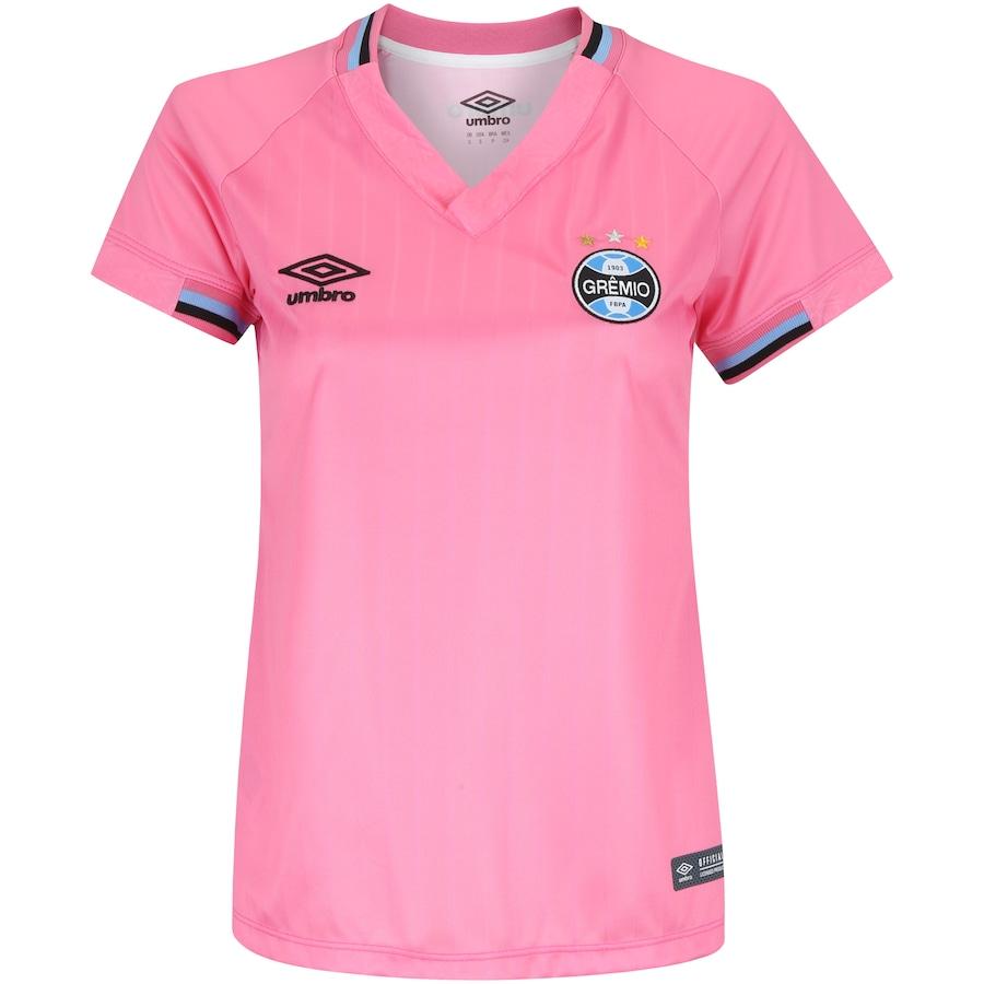 f292b9f632 Camisa do Grêmio 2018 Umbro Outubro Rosa Edição Limitada - Feminina