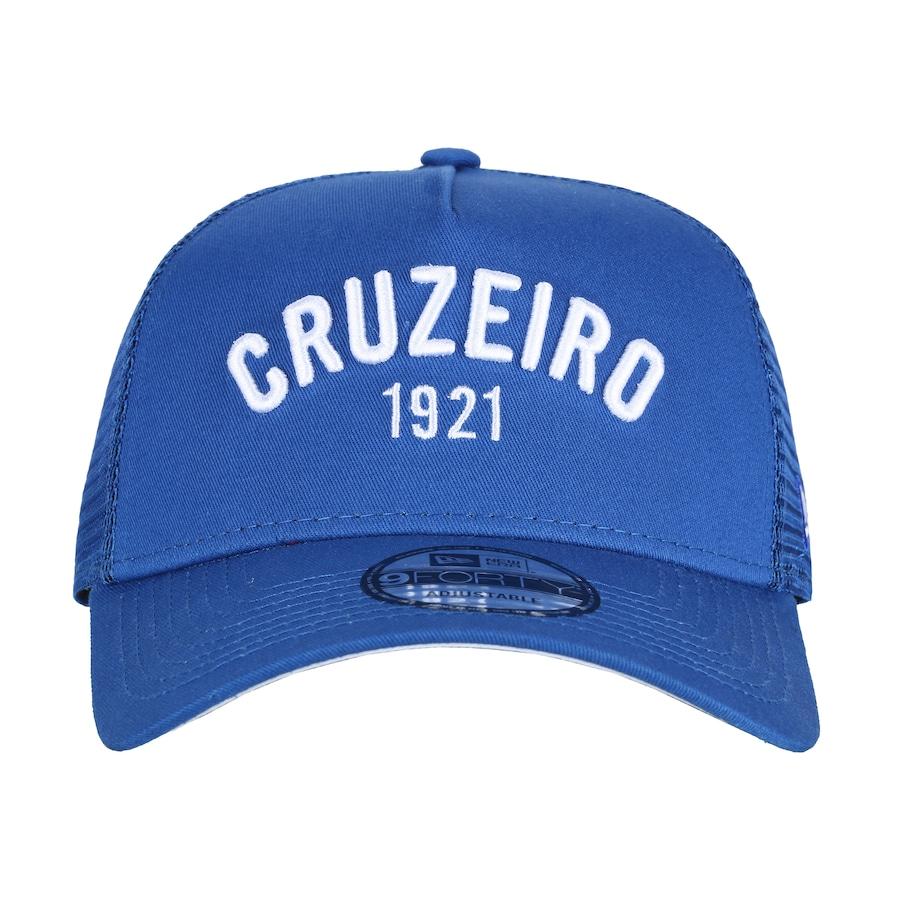 Boné Aba Curva do Cruzeiro New Era 940 SN Classic - Snapback - Trucker -  Adulto edcee8f36bf