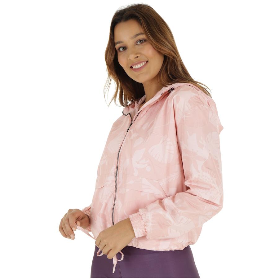 f0ca836c360 Jaqueta Corta-Vento com Capuz Oxer Ajustável Rose - Feminina