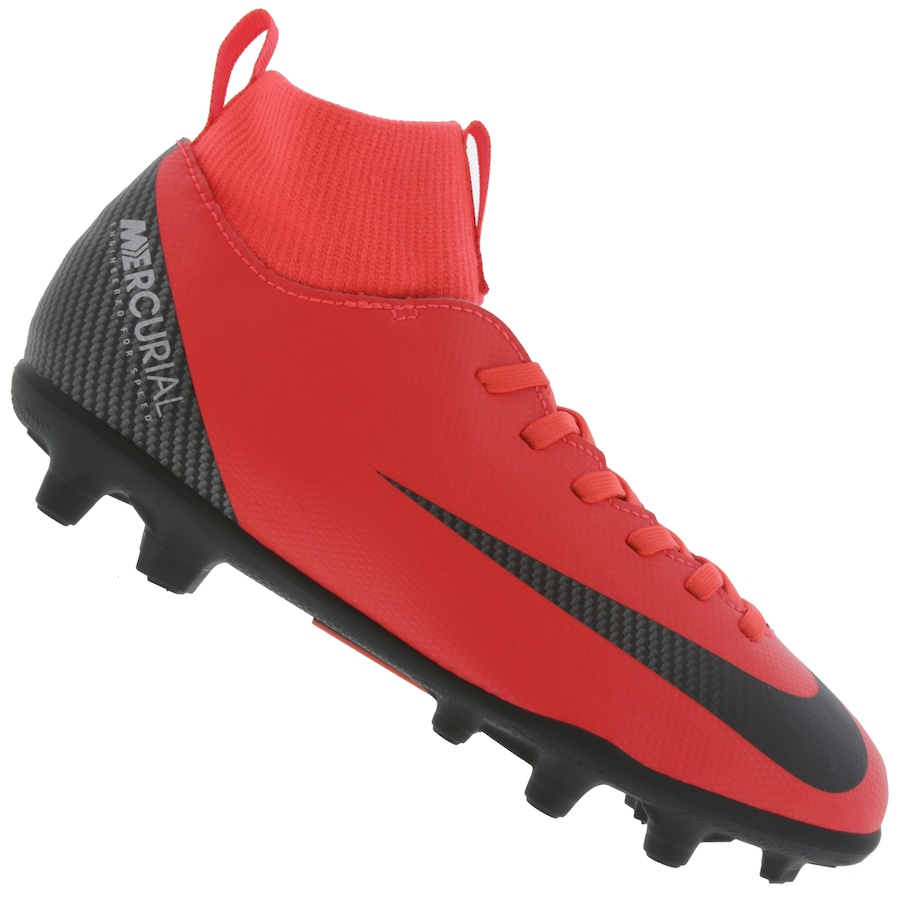 Chuteira de Campo Nike Mercurial Superfly 6 Club CR7 FG MG - Infantil 87831a239814e