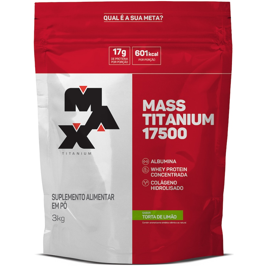 Mass Titanium 17500 Max Titanium - Torta de Limão - 3Kg