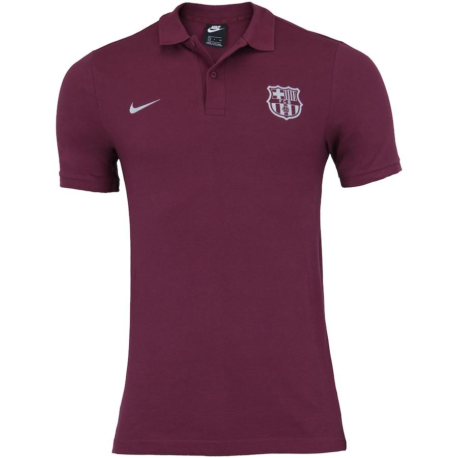 Camisa Polo Barcelona Piquet Nike - Masculina f67e46c3b1497