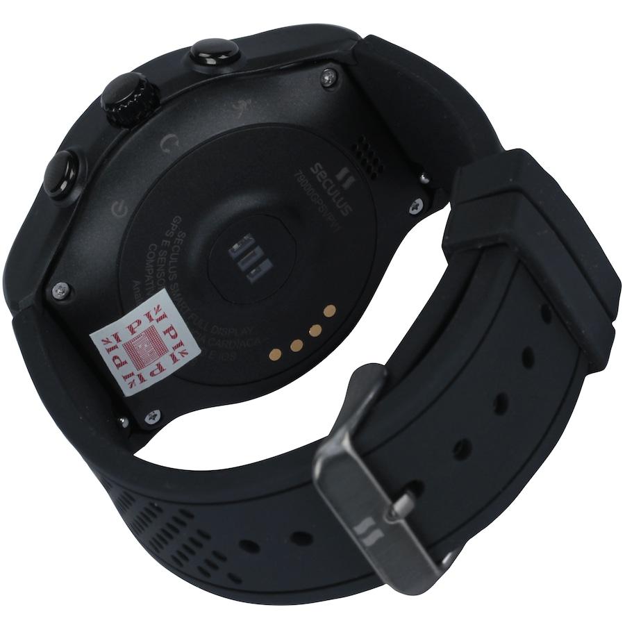 93f7ae84504 Relógio Inteligente Smartwatch Seculus Smart Digital 79000GPSVP - Unissex