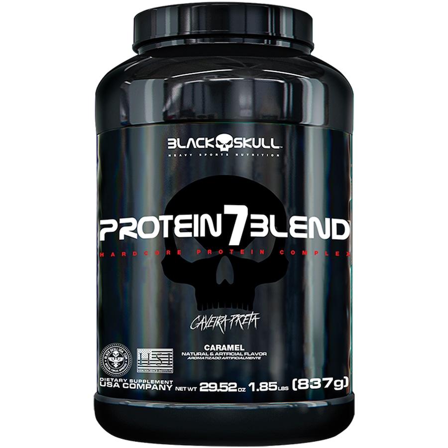 Protein 7 Blend Black Skull - Caramelo - 837g