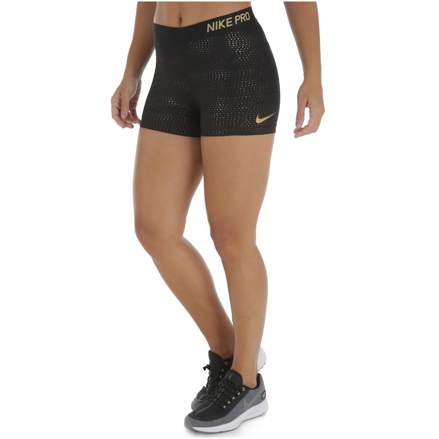 Bermuda Nike Pro 3in Metallic Dots Feminina Centauro