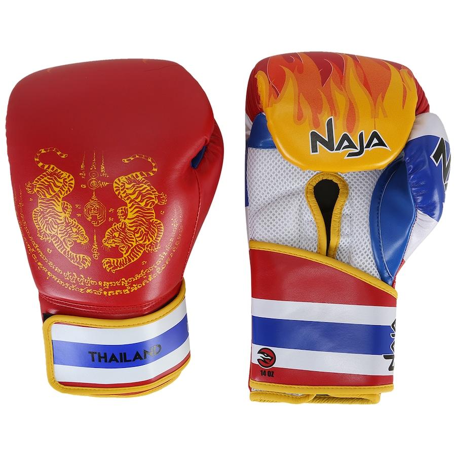 7e70a11f7 Luvas de Boxe Naja Tailândia - 14 OZ - Adulto
