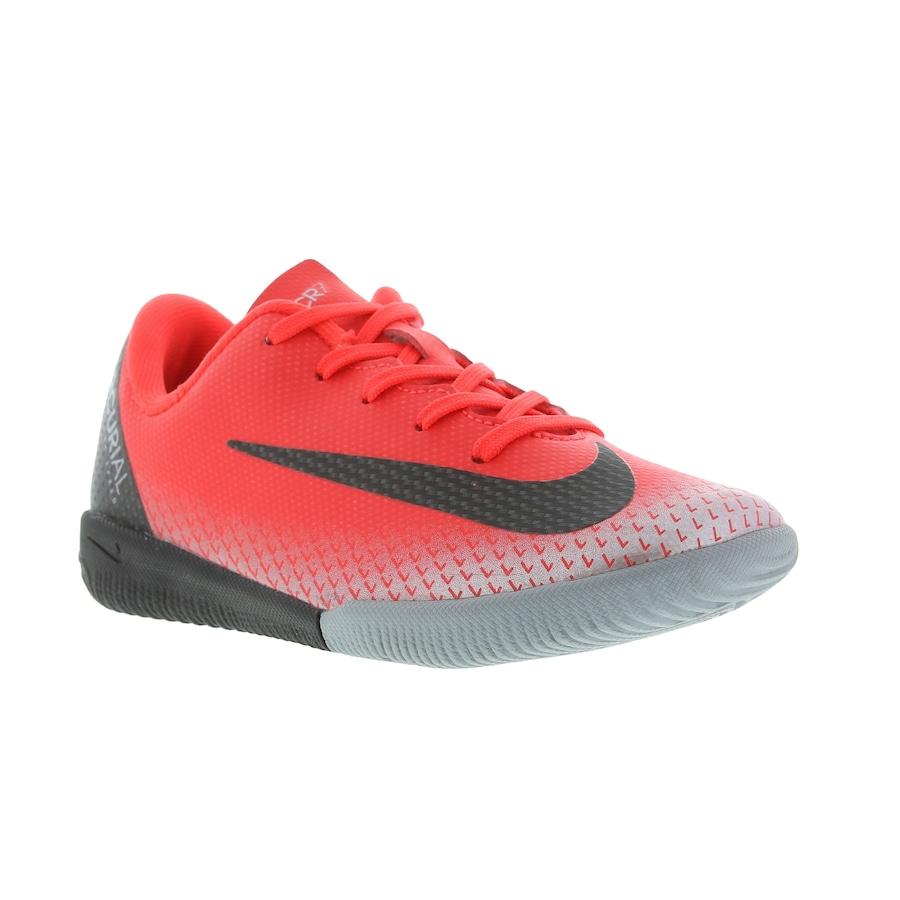 20bee672e7 Chuteira Futsal Nike Mercurial Vapor 12 Academy CR7 IC - Infantil