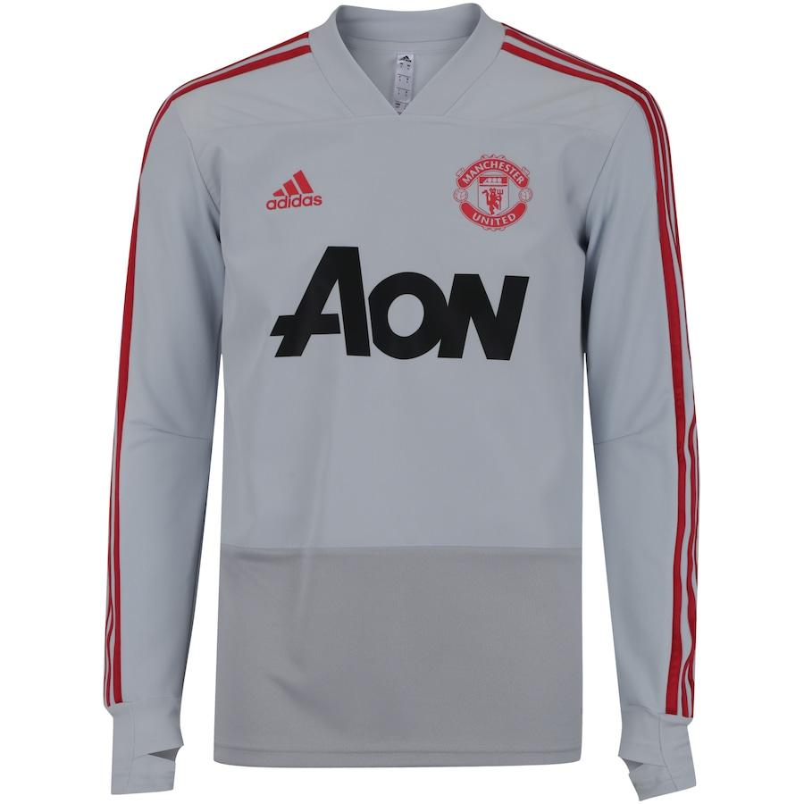68beedc30 Camisa de Treino Manga Longa Manchester United 19 20 adidas - Masculina