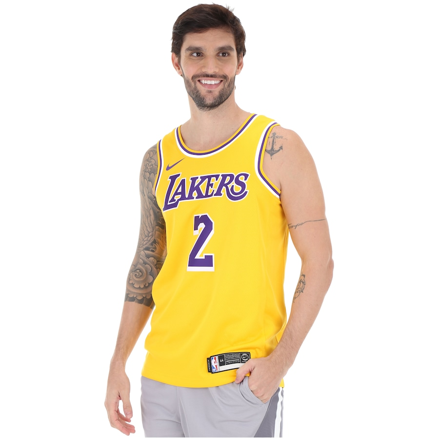 868cb9f45 Camisa Regata Nike NBA Los Angeles Lakers Icon Edition Swingman - Masculina