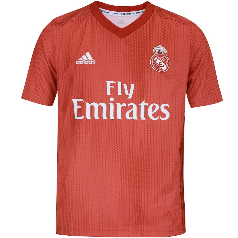 Camisa Real Madrid III 18 19 adidas - Infantil 4832bc52c1855