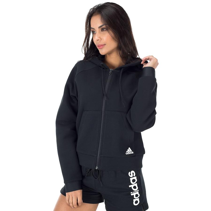 2e093e0e2 Jaqueta com Capuz adidas MH Hoodie - Feminina