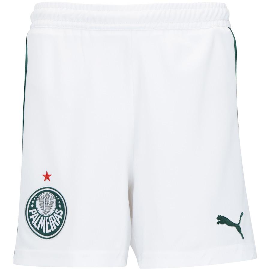 Calção do Palmeiras I 2019 Puma - Infantil 28a3481b2cc59