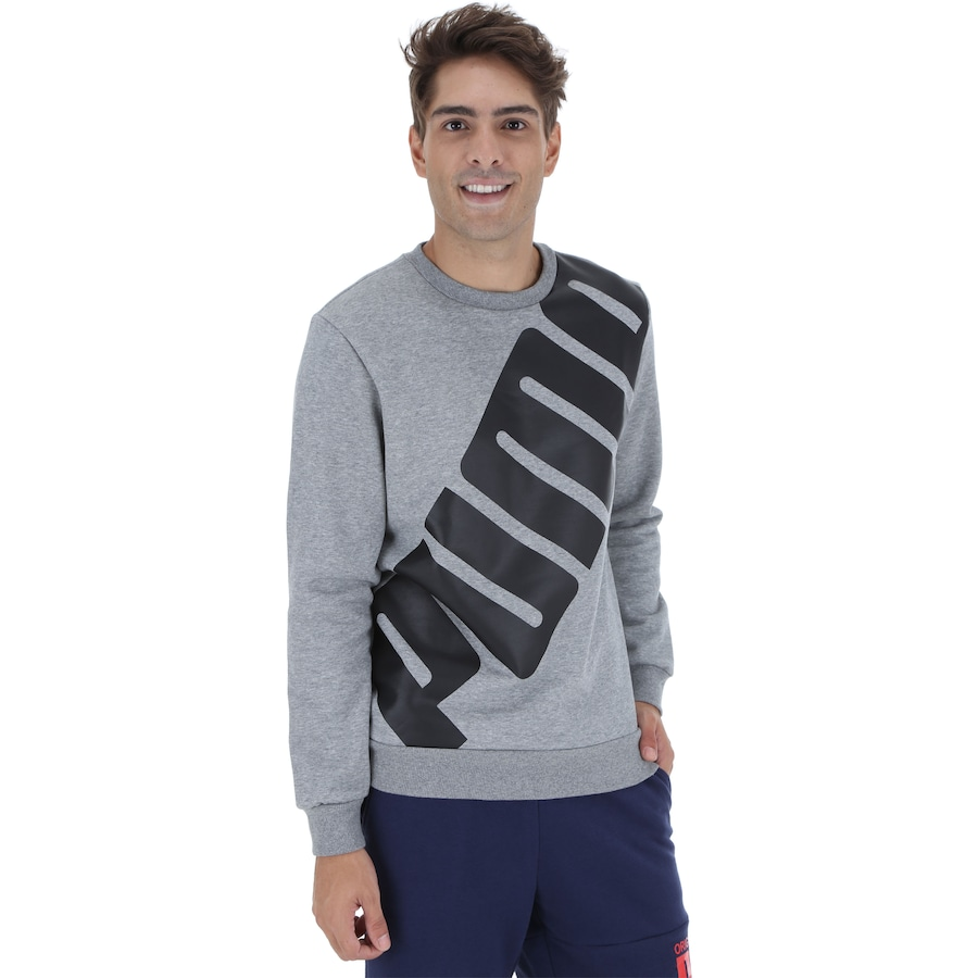 Foto 1 - Blusão de Moletom Puma Big Logo Crew - Masculino