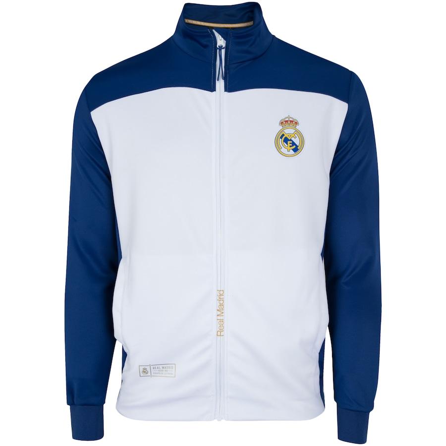 Jaqueta Real Madrid Branco e Azul - Masculina