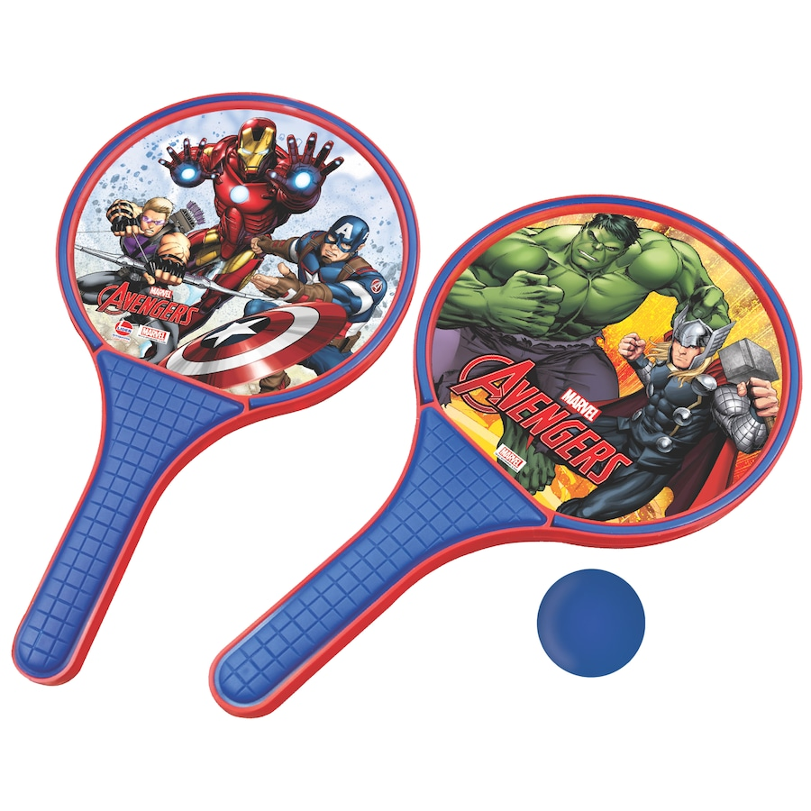 Kit de Frescobol Disney Avengers: 2 Raquetes e 1 Bolinha