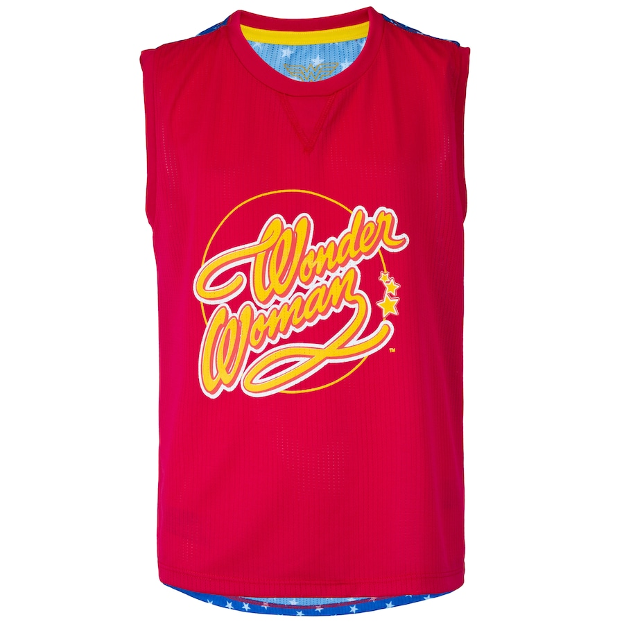 Camiseta Regata Liga da Justiça Mulher Maravilha - Infantil