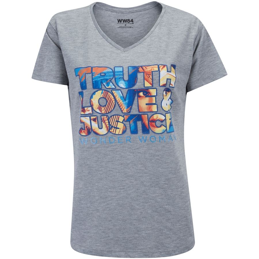 Camiseta Liga da Justiça Mulher Maravilha Justice - Feminina